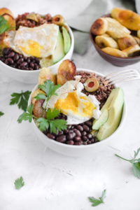 Healthy Cuban Yellow Rice Picadillo Black Bean Bowl