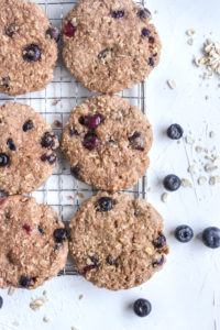 Healthy Oat Blueberry Breakfast Cookie