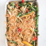 Healthier Green bean Pepper Veggie Casserole