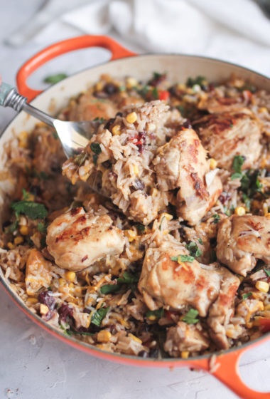 One Pot Chicken Rice and Beans