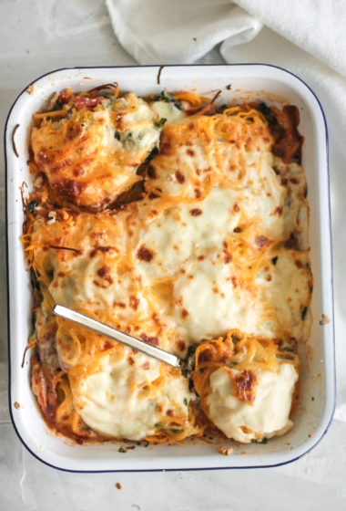 No Pasta Turkey Kale Lasagna Bake