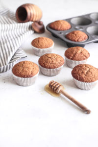 Chai Whole Wheat Honey Muffins
