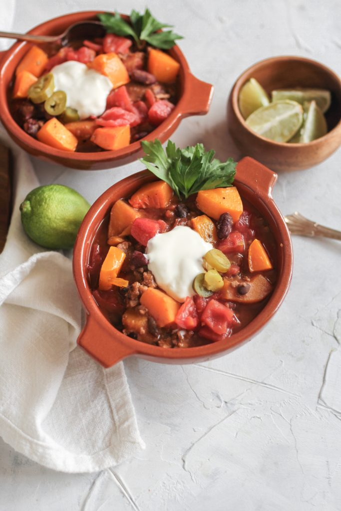 Turkey Butternut Squash Bean Chili