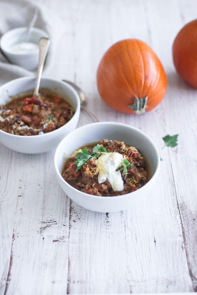 Pumpkin Ground Beef Chili
