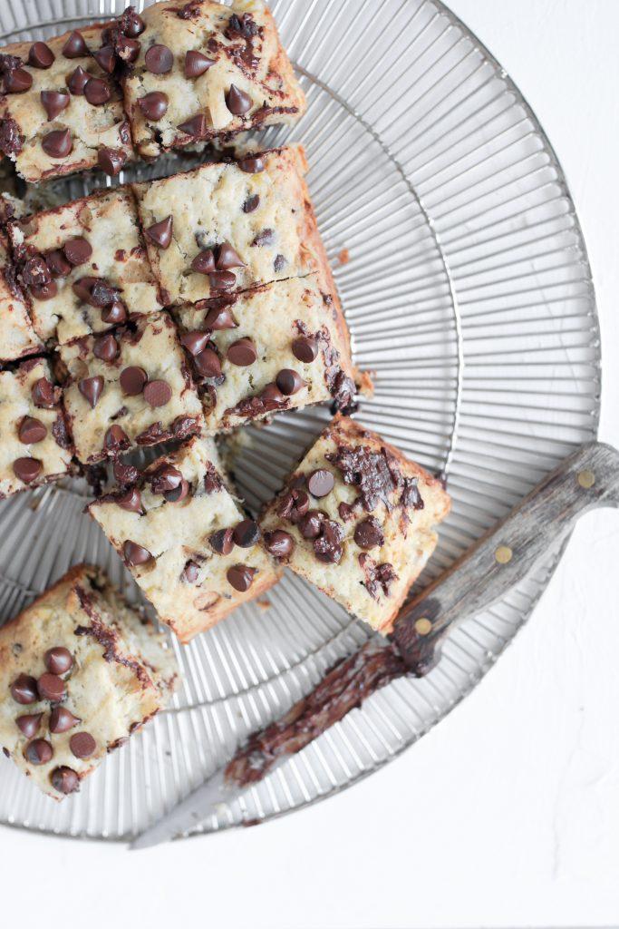 Banana Bread Chocolate Chip Sheet Cake