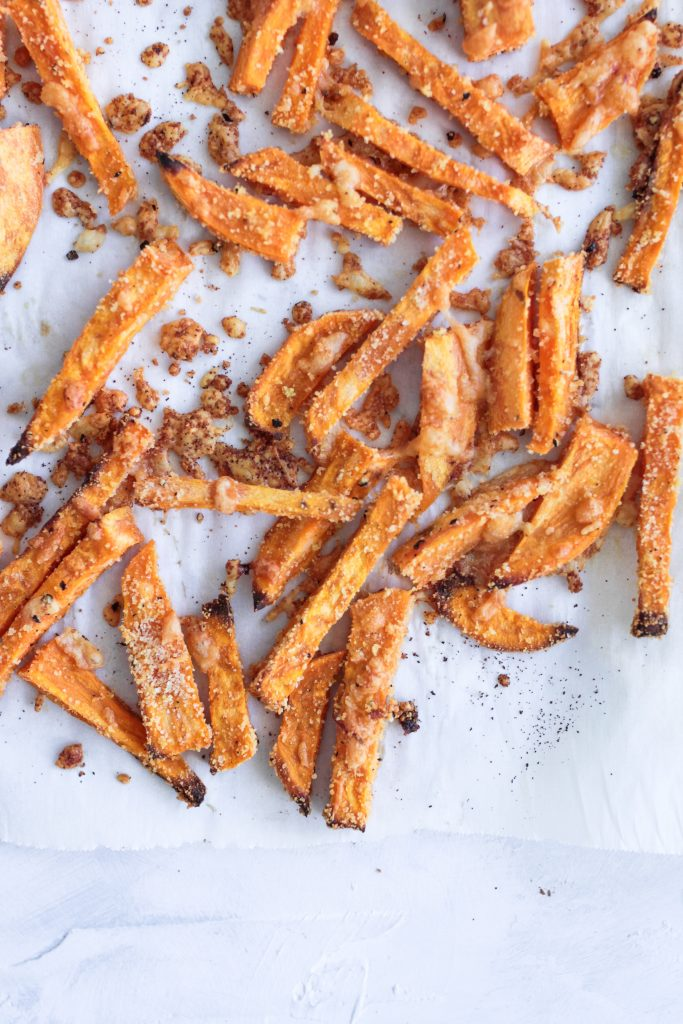No guilt crispy baked sweet potato fries