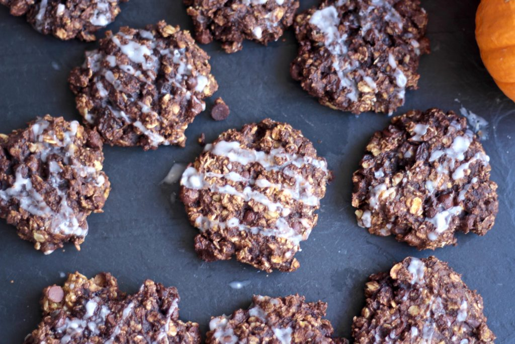 Favorite Pumpkin Dark Chocolate Oat Cookies